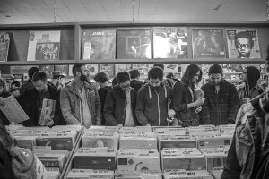 #5 with a bullet: Customers browse the vinyl bins at Red Cat Records on Main Street./ Kristian Secher