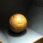 A game ball from Brazil's 1962 World Cup victory over Czechoslovakia. / Photo by Steven Sang Eun Lee