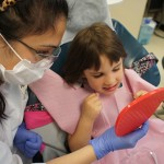 "Vancouver Community College's certified dental assistant and dental reception coordinator departments welcomed children from Burnaby and Vancouver elementary schools to meet the ""Tooth Fairy"" and her team of dentists, May 2013."