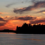 A dimming sunset viewed from Alert Bay on Cormorant Island.