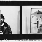 In front of Duchamp's work, Museum of Modern Art, 1987/2011  inkjet on paper  50.8 x 61.0 cm  Courtesy of the artist, Three Shadows Photography Art Center, and Chambers Fine Art.