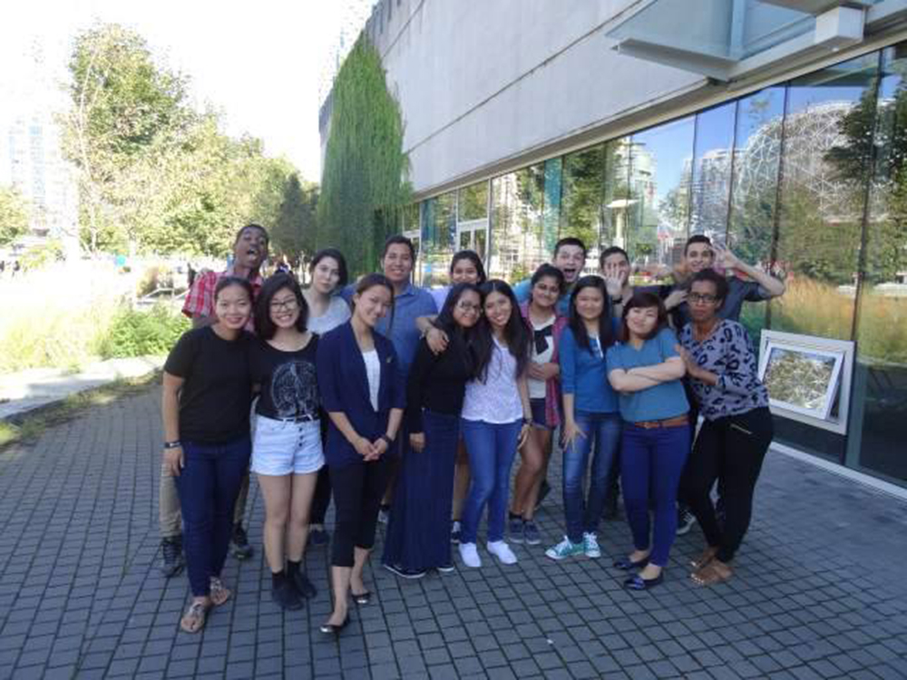 The Fresh Voices team celebrates a recent win at city hall.